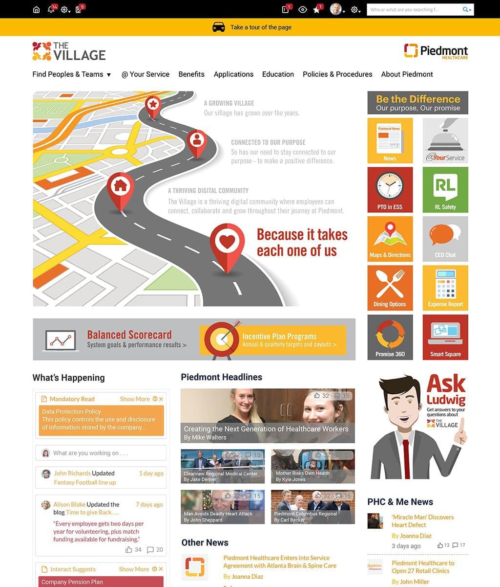 Piedmont Healthcare homepage screenshot.