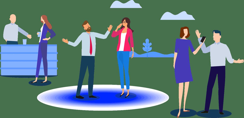 Customer meetups illustration