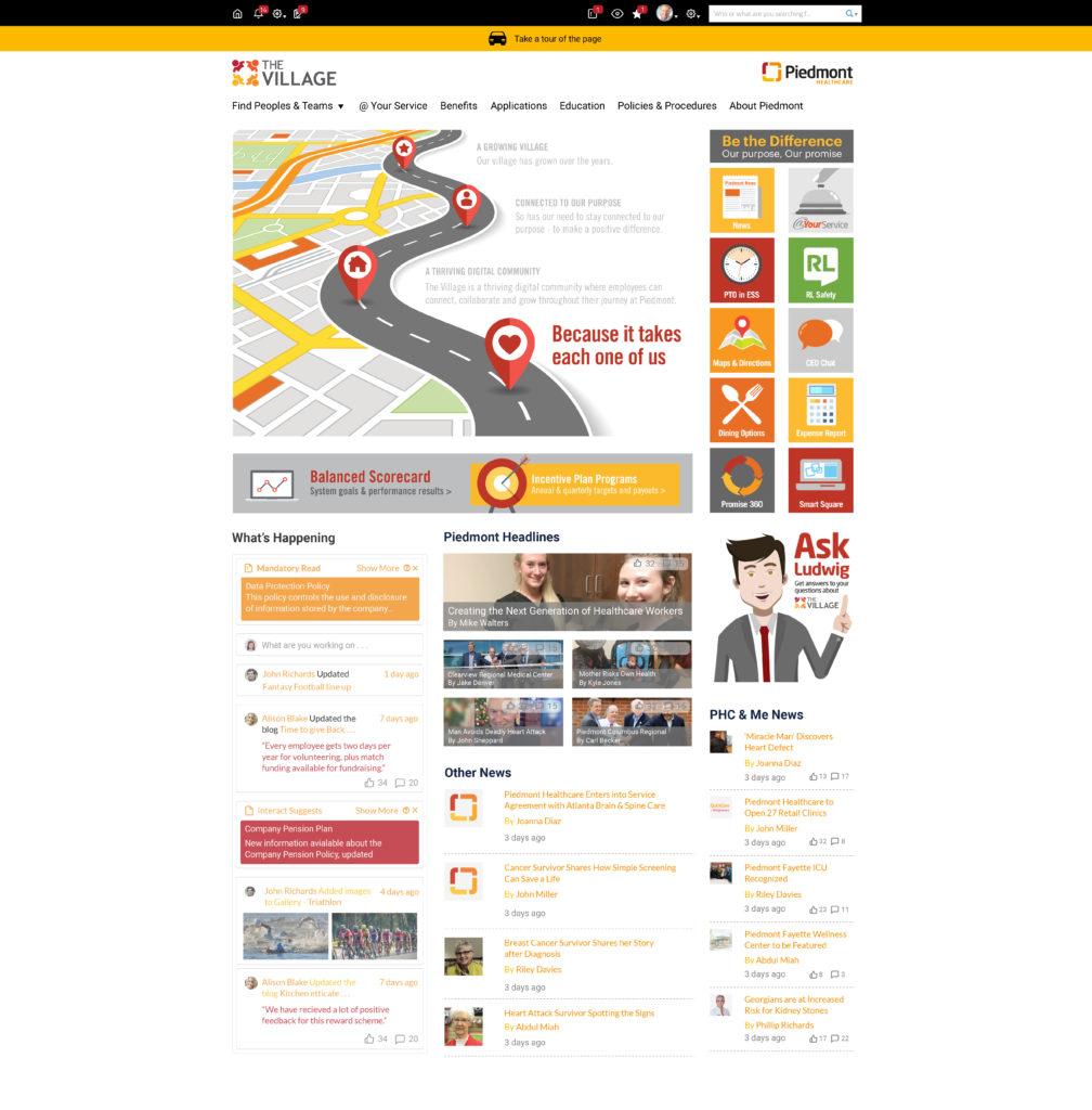 Piedmont homepage